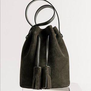 building block Bags - Building Block mini bucket bag in suede moss
